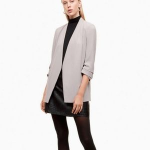 Aritzia Babaton Macauley blazer in stone/gray
